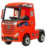 Camion electric  4X4 cu scaun din piele si roti EVA Mercedes Actros Red