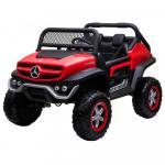 Masinuta electrica cu scaun de piele Mercedes Unimog 4X4 Red
