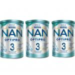 Pachet lapte praf Nestle NAN 3 Optipro 3x400 g 1-2 ani