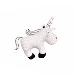 Pernuta din bumbac unicorn monocrom