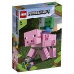 Porc BigFig cu bebelus de zombi Lego