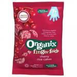 Rondele Bio din orez expandat cu cirese FingerFoods +7 luni 50 g Organix