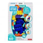 Set cuburi colorate de construit Mega Bloks 60 de piese