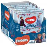 Set de 10 x Servetele umede Huggies All Over Clean Disney Frozen, 56 buc