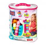 Set cuburi de construit Mega Bloks 80 de bucati pentru fetite Fisher Price