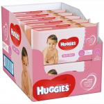Set de 10 x Servetele umede Huggies Soft Skin 56 buc