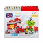 Set de constructie Mega Bloks Pompier 55 cuburi
