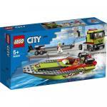 Transportor de barca de curse Lego