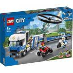 Transportul elicopterului de politie Lego