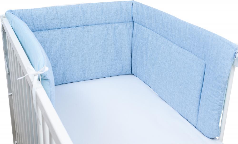 Aparatoare laterala pentru patut 190 x 40cm Albastru pal