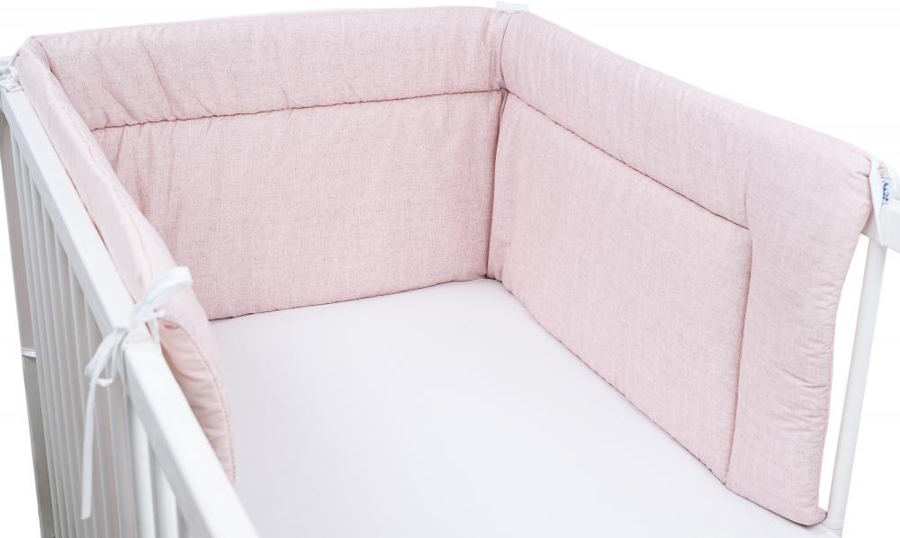 Aparatoare laterala pentru patut 190 x 40cm Roz pal