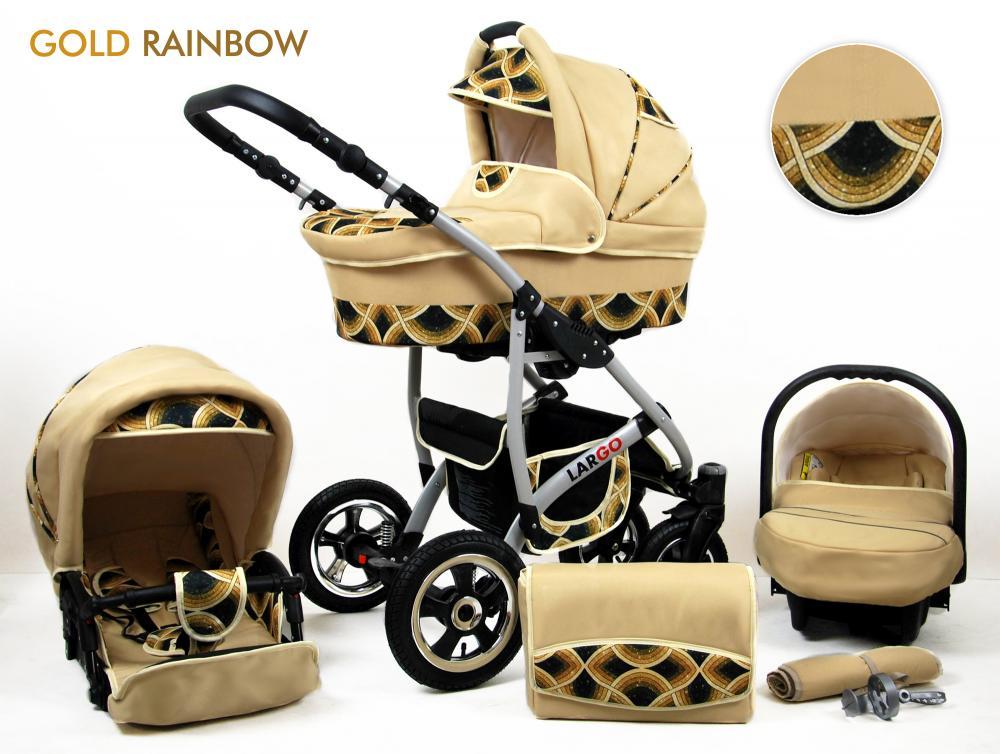 Carucior Largo 3 in 1 Gold Rainbow