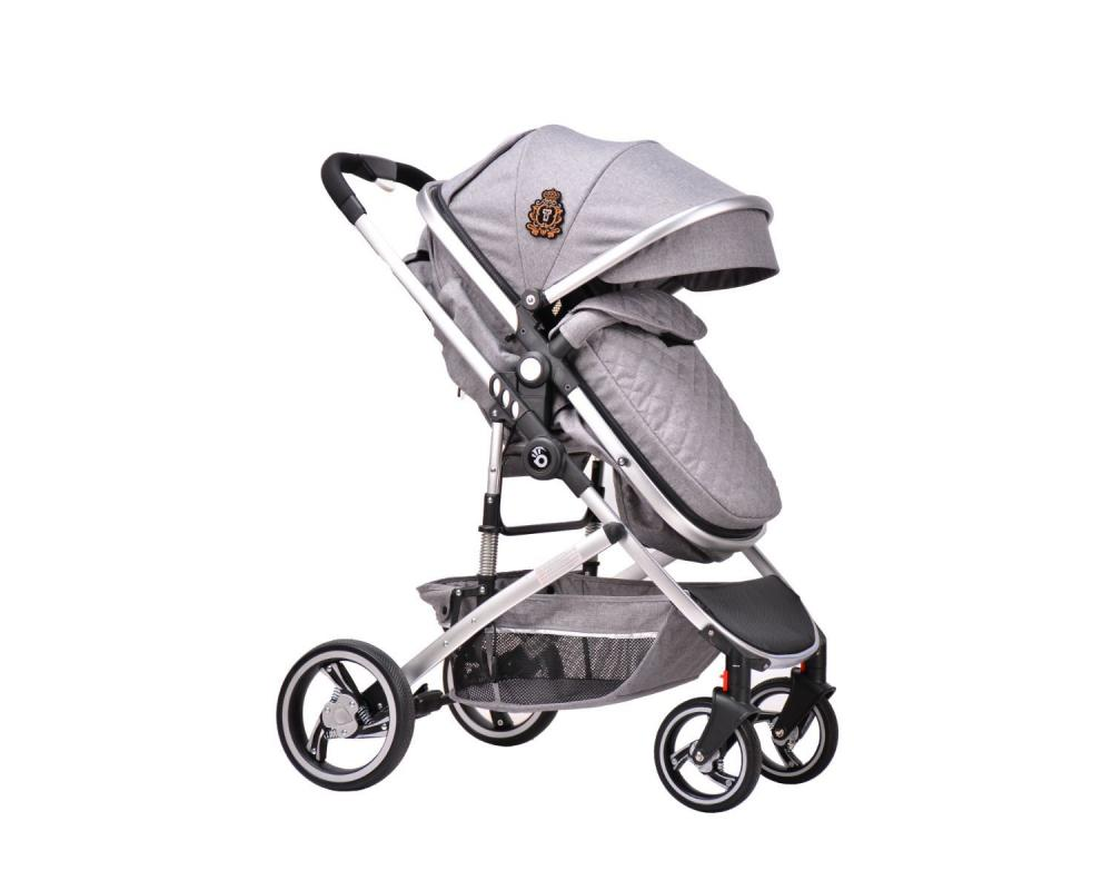 Carucior transformabil KikkaBoo 3 in 1 Tiara Grey