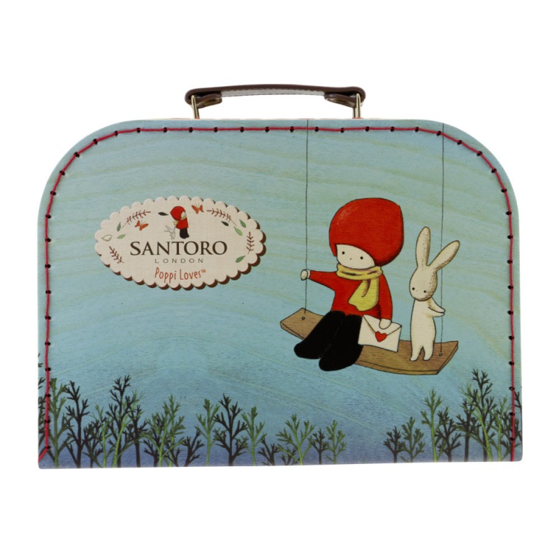 Cutie depozitare tip valiza medie Poppi Loves Messenger