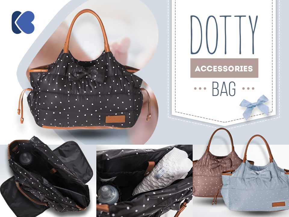 Geanta pentru mamici Mama Bag Dotty Black
