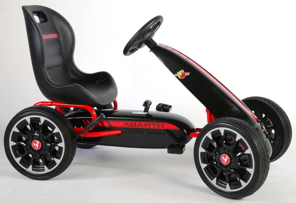 Kart cu pedale Go Kart Abarth negru imagine