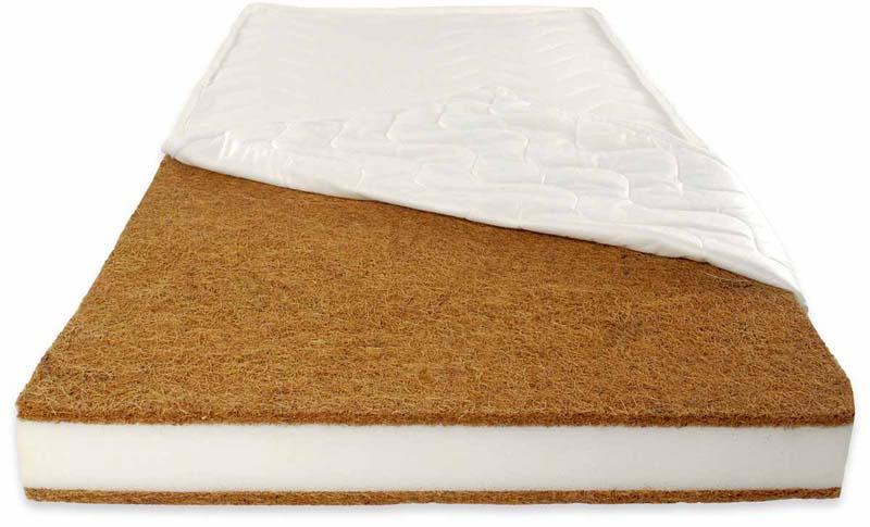 Patut din lemn Paula Alb + Saltea Comfort 14 cm