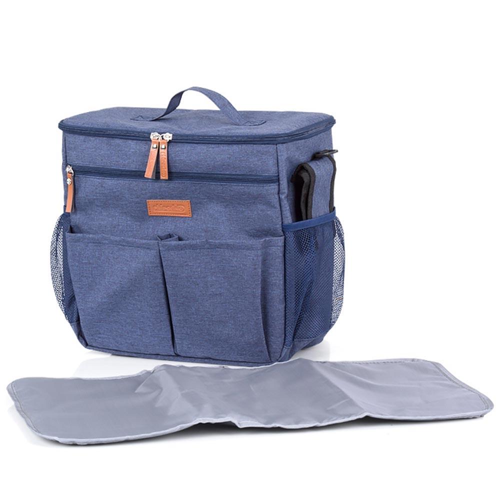 Rucsac si gentuta termoizolanta de infasat Chipolino blue jeans - 3