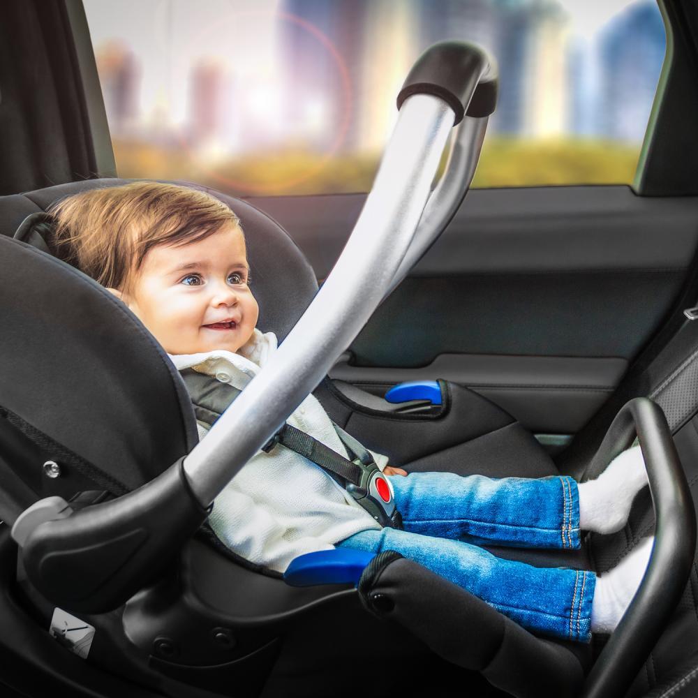 Set scaun auto si baza Comfort Fix Pink Grey