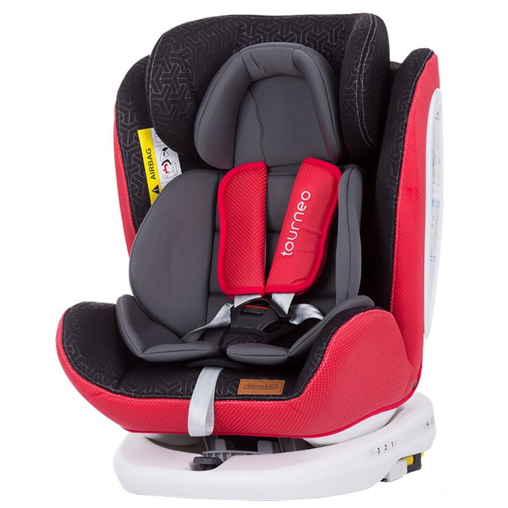 CHIPOLINO Scaun auto Chipolino Tourneo 0-36 kg red cu sistem Isofix