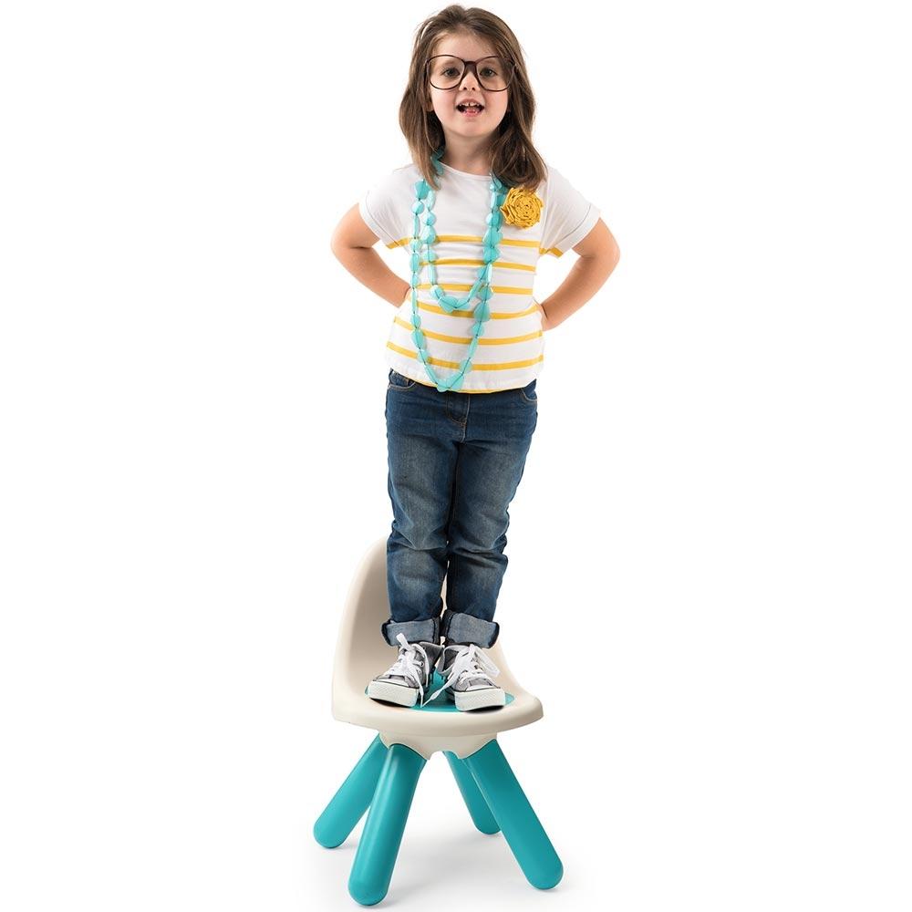 Scaunel cu spatar pentru copii Smoby blue imagine