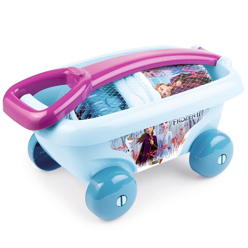 Set jucarii nisip Smoby Carucior Frozen 2 cu accesorii imagine