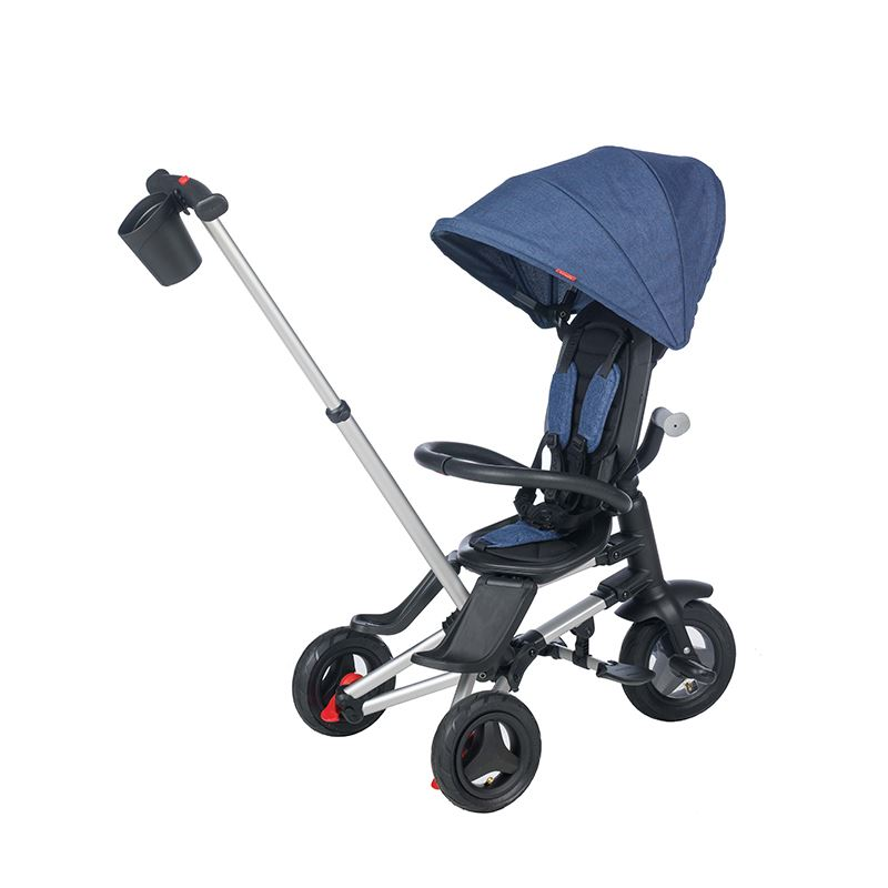 Tricicleta ultrapliabila Qplay Nova Air albastru inchis