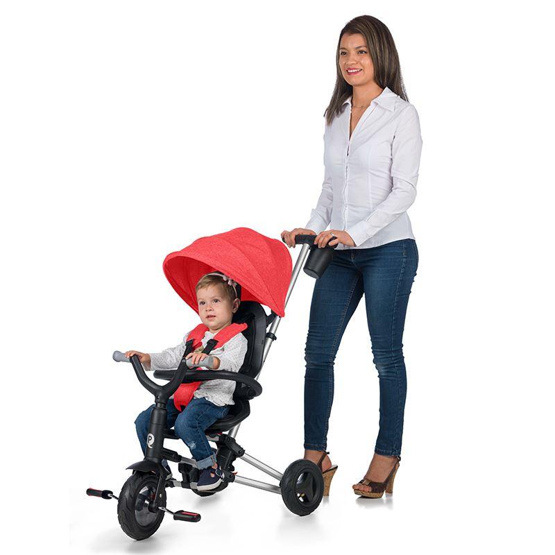 Tricicleta ultrapliabila cu roti Eva Qplay Nova rosu