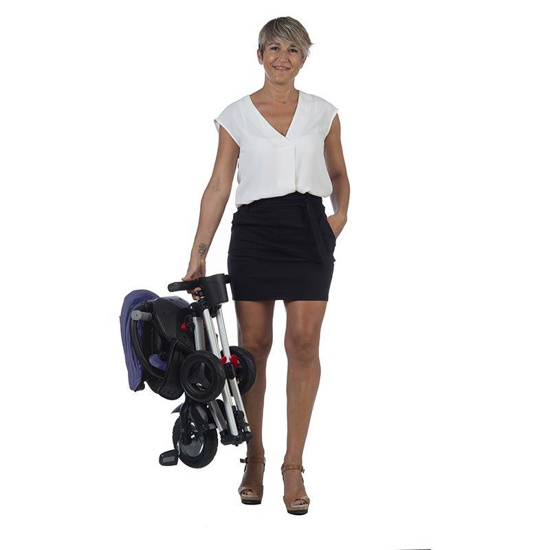 Tricicleta Ultrapliabila Cu Roti Eva Qplay Nova Albastru Inchis