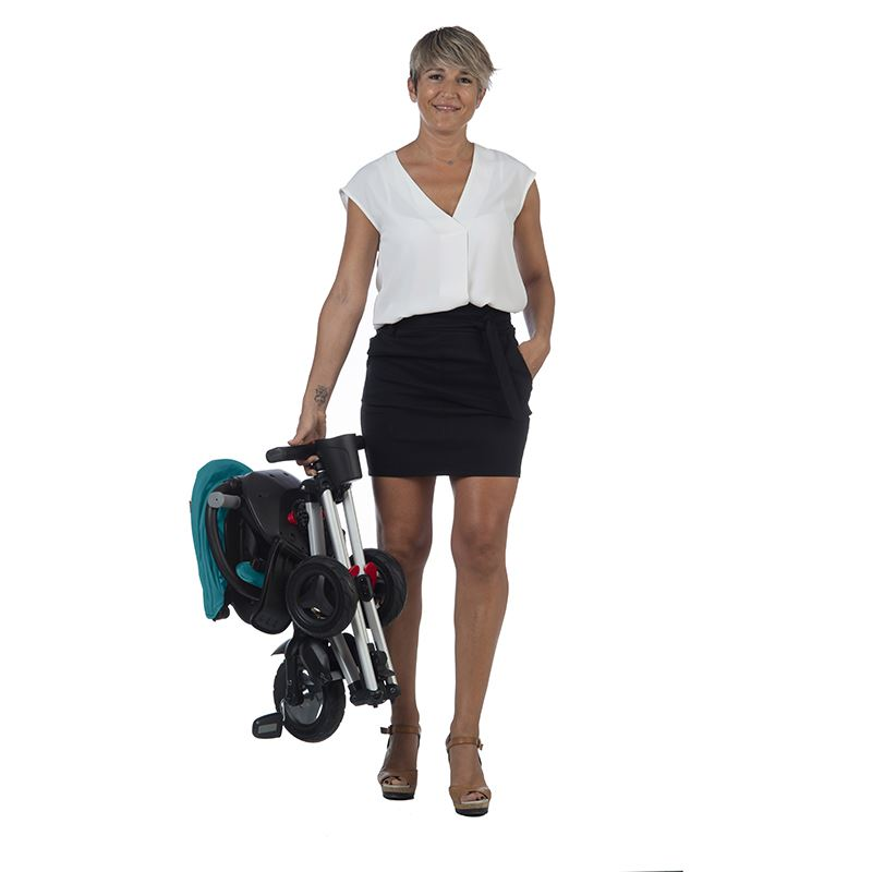 Tricicleta ultrapliabila cu roti Eva Qplay Nova turcoaz imagine