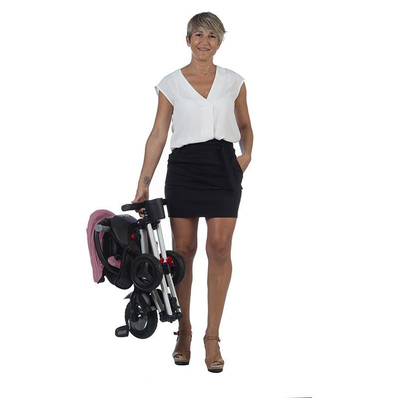 Tricicleta ultrapliabila cu roti din cauciuc Eva Qplay Nova violet