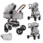 Carucior transformabil 2 in 1 Alba Light Grey