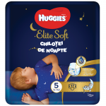 Chilotei de noapte Elite Soft nr.5, 12-17 kg, 17 buc, Huggies