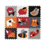 Covoras Puzzle Animalute Fericite 92x92 cm
