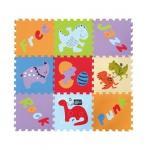 Covoras Puzzle Lumea Dinozaurilor 92x92 cm