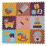 Covoras Puzzle Lumea jucariilor 92x92 cm