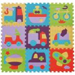 Covoras Puzzle Transport 92x92 cm Babygreat