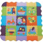 Covoras Puzzle Transport II 122x122 cm Babygreat