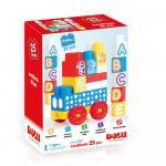 Cuburi de construit din plastic 25 piese