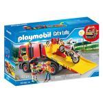 Masina de remorcare cu motocicleta Playmobil