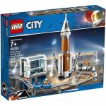 Racheta spatiala si centrul de comanda al lansarii Lego