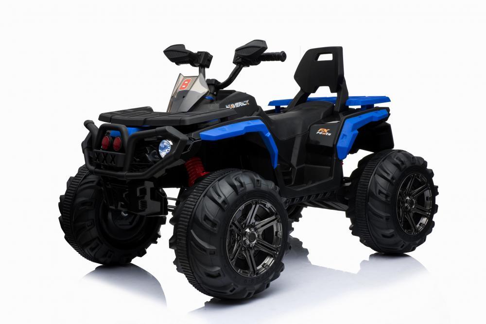 ATV electric cu amortizoare si roti din plastic Maverick 4x4 Blue