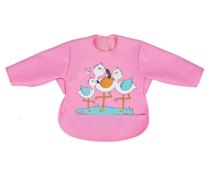 Baveta impermeabila cu maneci lungi Sevi Bebe roz
