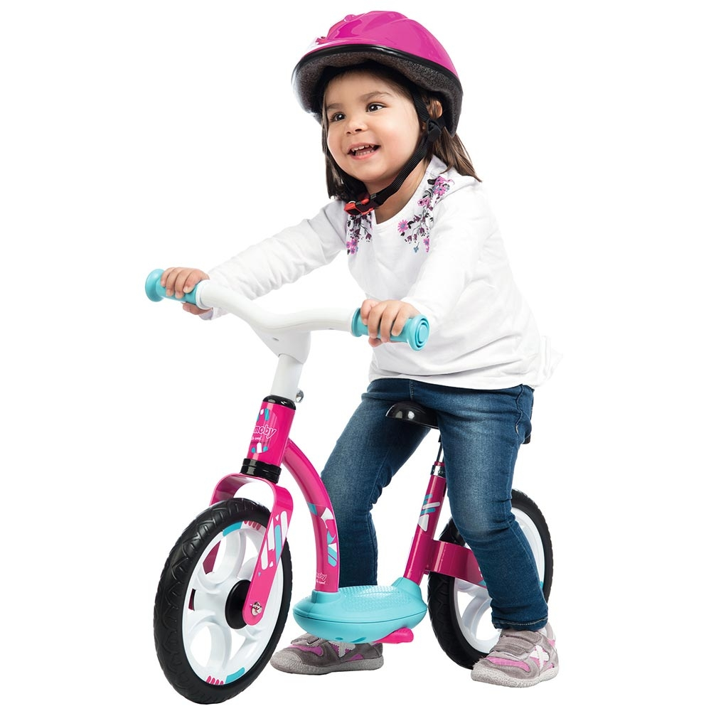 Bicicleta fara pedale Smoby Comfort pink 10 inch
