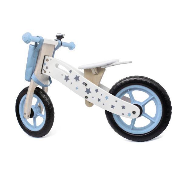 Bicicleta din lemn Balance albastra