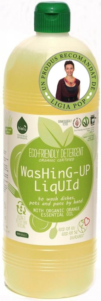 Detergent lichid pentru spalat vase ecologic 1L Biolu