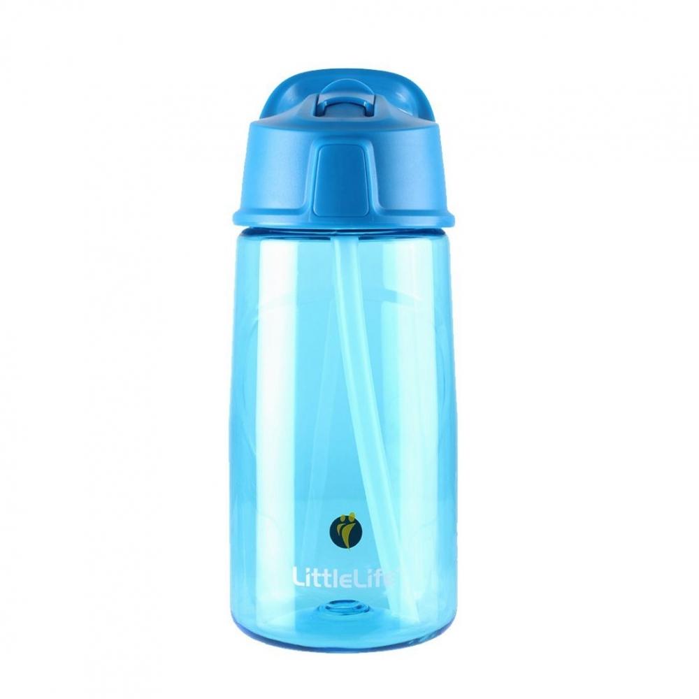 Cana cu pai Flip-top Tritan 550 ml blue imagine