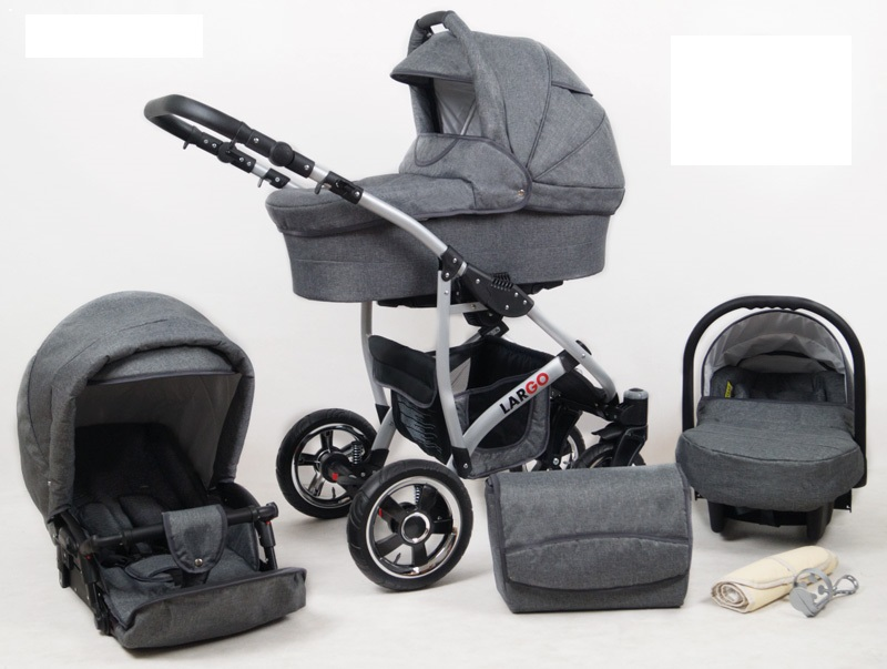 Carucior Largo 3 in 1 Grey Flex