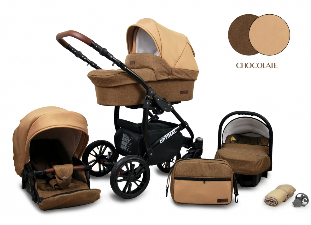 Carucior Optimal 3 in 1 Chocolate