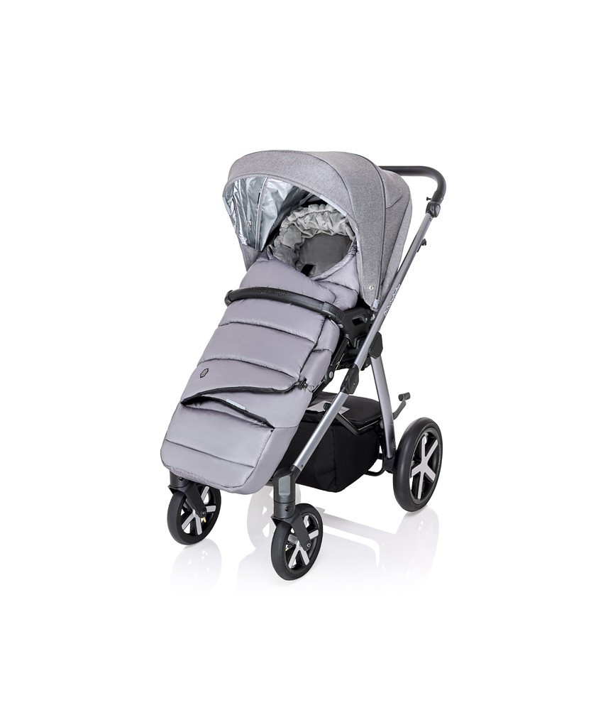 Carucior multifunctional Baby Design Husky + Winter Pack 27 Light Gray 2020